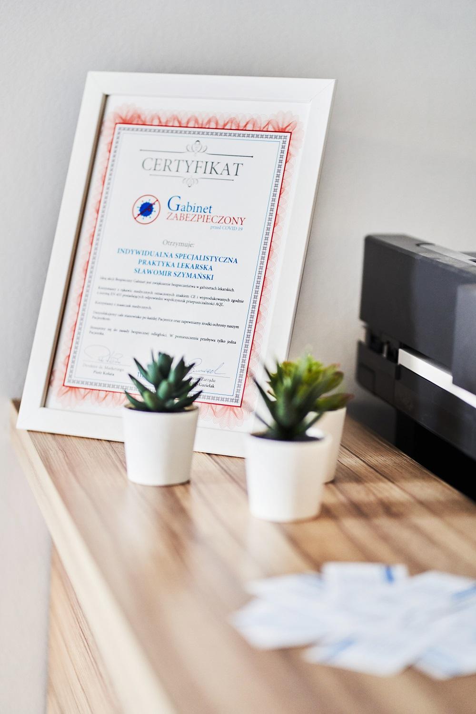 certyfikat bezpieczny gabinet